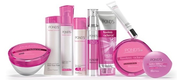 Ponds flawless radiance range for Ponds products