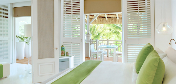One of the luxurious rooms at LUX* Belle Mare