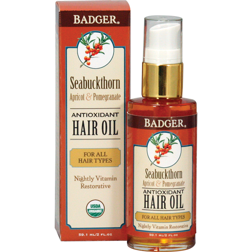 Badger Seabuchthorn Hair Oil