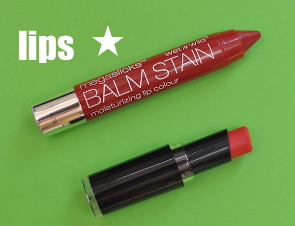 MegaSlicks Balm Stain in Red-dy or Not and Lip Color in Coral-ine