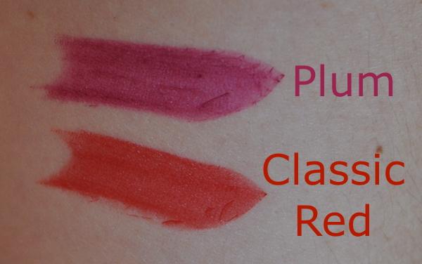 GOSH Lipstick Swatches