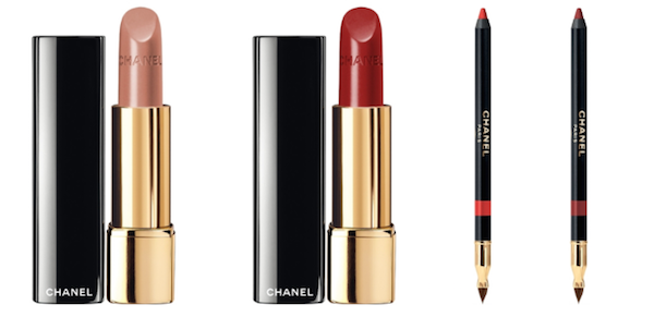 Rouge Allure in Rouge Ingenue and Rouge Tentation, R610 each Le Crayon Levres in Desir and Seduction, R415 each