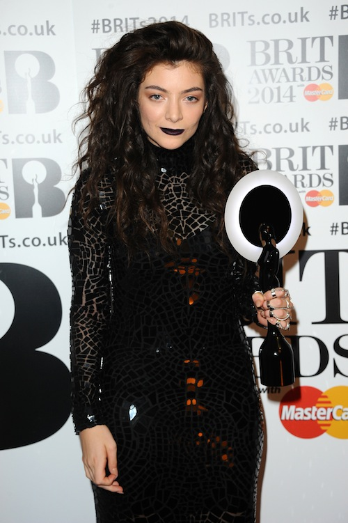 Lorde at the BRIT Awards 2014 (Photo Credit Anthony Harvey)