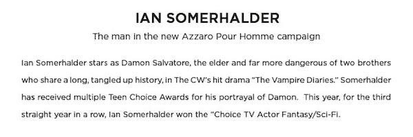 Ian Somerhalder Bio