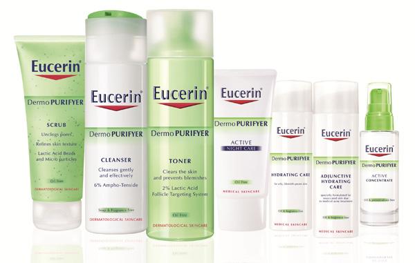 Eucerin dermoPURIFYER range