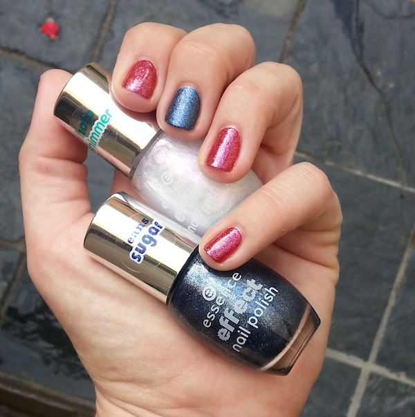 Today I'm wearing essence Effect Nail Polishes