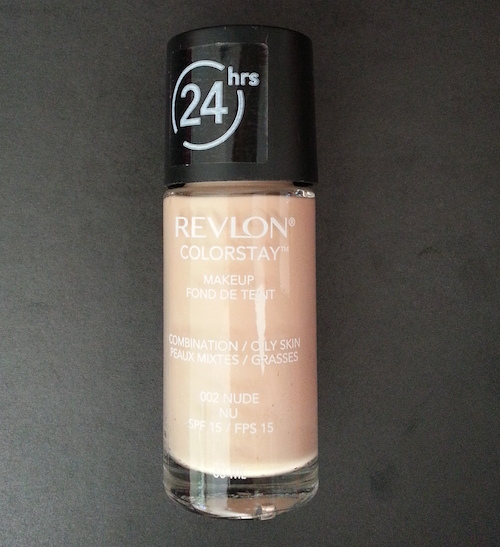 The best for long lasting (on my skin, anyway) was the ColorStay Make-up Combination/Oily Skin SPF15 in Nude.