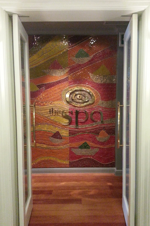 The spa entrance