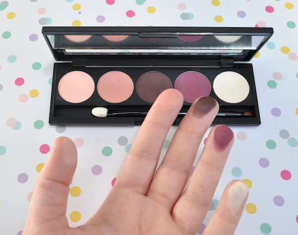 Hean 5D Eye Shadow Palette Swatch
