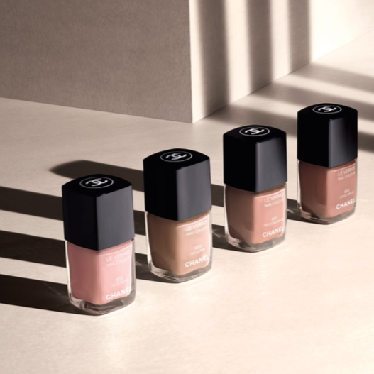 Le Vernis in Limited Edition Beige Rose and Lovely Beige as well as main collection Beige Pur and Precious Beige