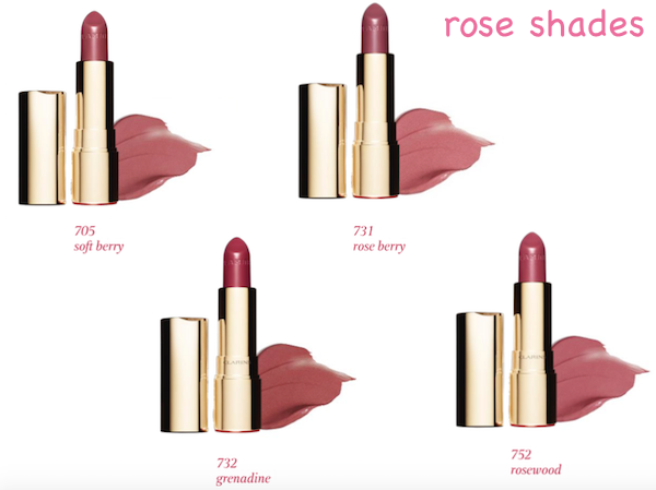 Clarins Joli Rouge Rose shades