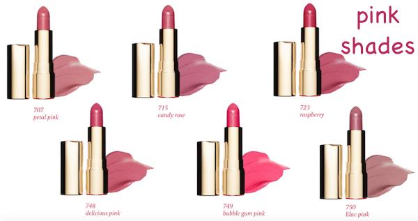 Clarins Joli Rouge Pink Shades