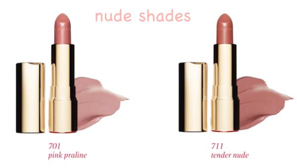 Clarins Joli Rouge Nude Shades