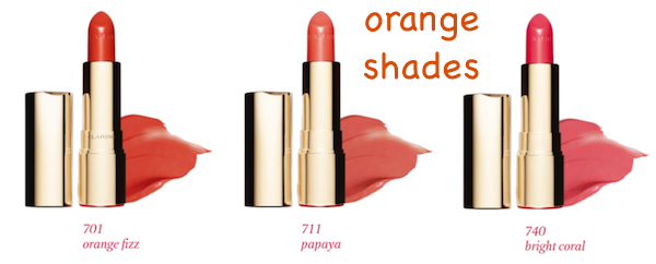 Clarins Joli Rouge Orange Shades