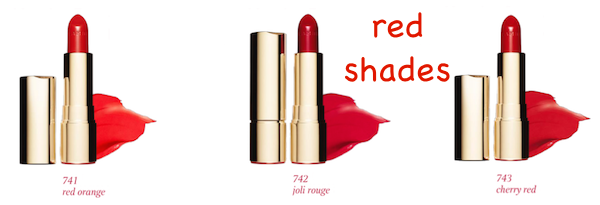 Clarins Joli Rouge Red Shades