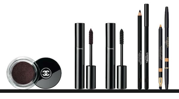 Illusion D'ombre Rouge Noir, R475 Le Volume De Chanel Rouge Noir, R485 Le Volume Ultra-Noir De Chanel Noir Khôl, R485 Le Crayon Khôl Rouge Noir, R335 Le Crayon Yeux Or Safran, R335