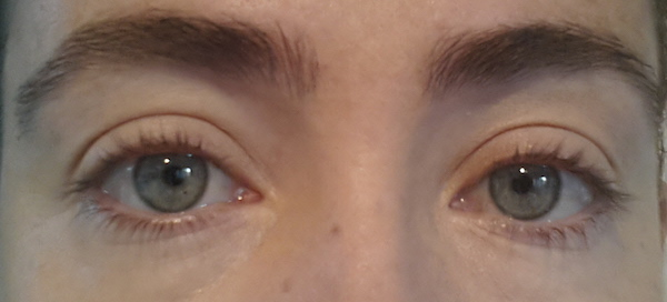 Just my natural lashes - no product.