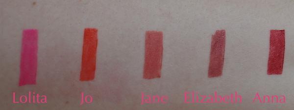 Bodyography Lipstick Swatches