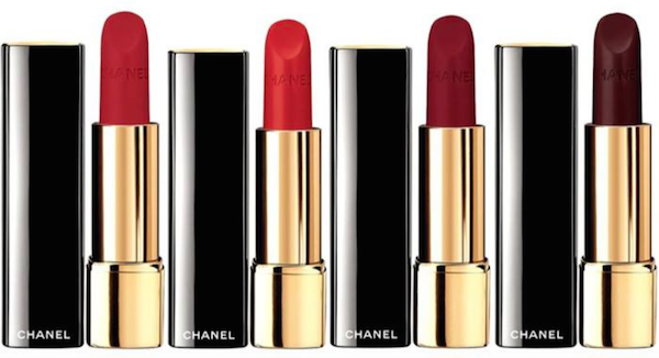 Rouge Allure Velvet in Rouge Charnel, Rouge Feu, Rouge Vie and Rouge Audace, R610 each