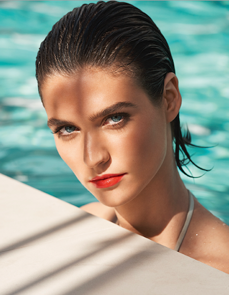 clarins-sunkissed-collection-model